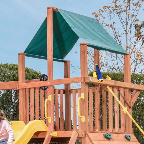 14 Sq. Ft. Play Deck on Orangutan Fort Swing Set