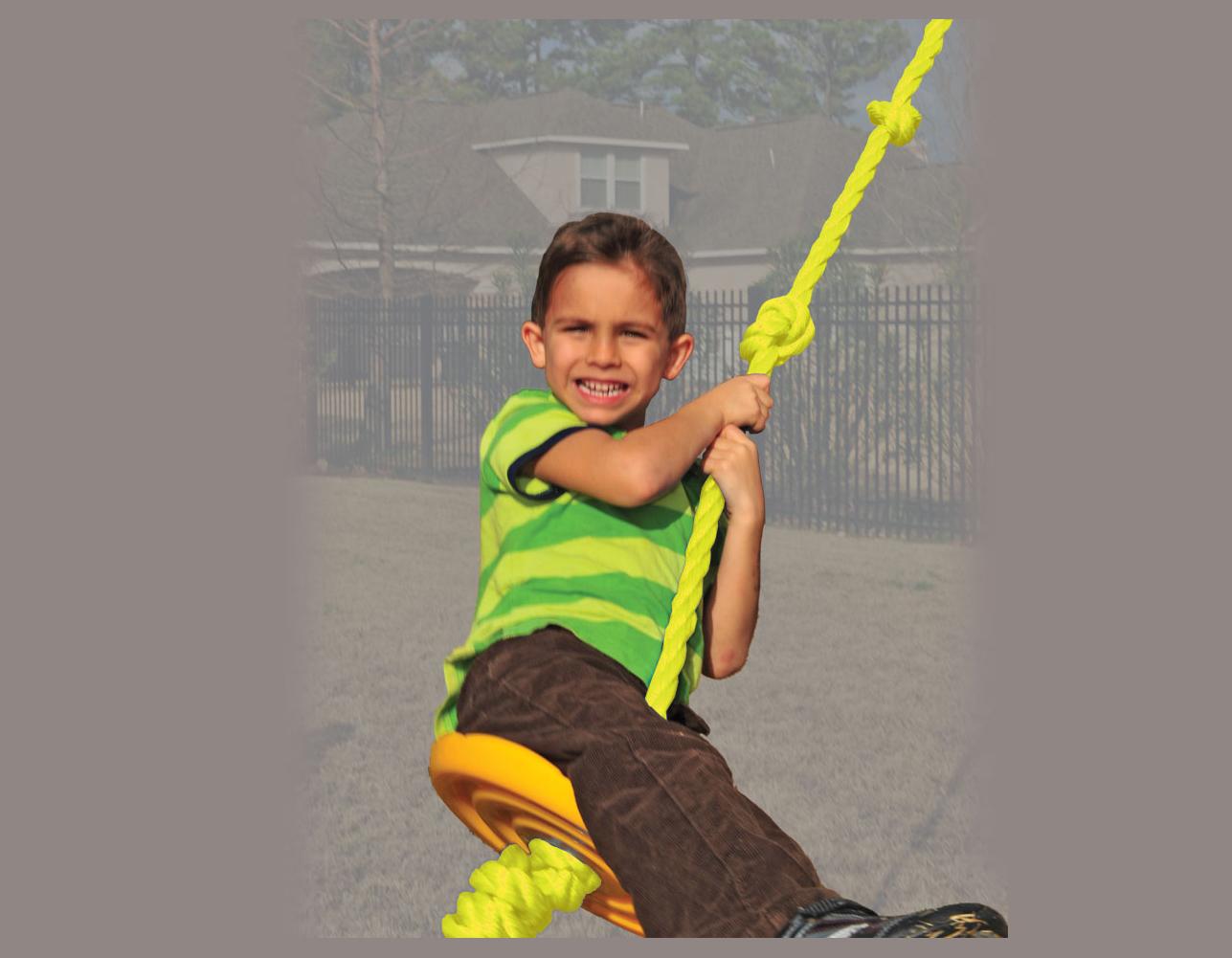 Rope Swing W Disc Swing Set Johnny S Backyard Sa