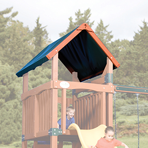 Adventure Treehouse Junior 1 Tarp Roof Swing Set